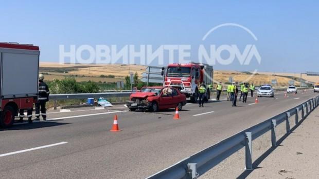 > Пловдивската колаКатастрофата не е верижна, а са две пътнотранспортни