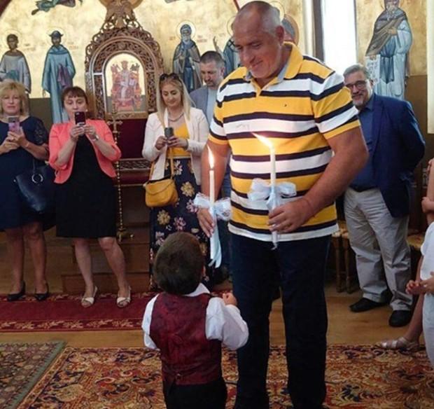 Снимка: Бойко Борисов кръсти внуците си в храма