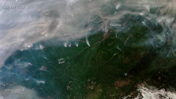 Димът от горските пожари в Сибир обхвана отдалечените селища на