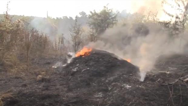 Снимка: Овладяха пожара край ромския квартал в Русе