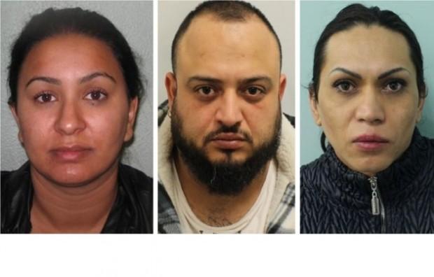 Трима членове на банда, оперираща бордеи в Източен Лондон, използващи