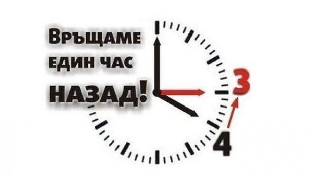 Тази неделя, 27 октомври, ще преместим стрелките на часовниците с