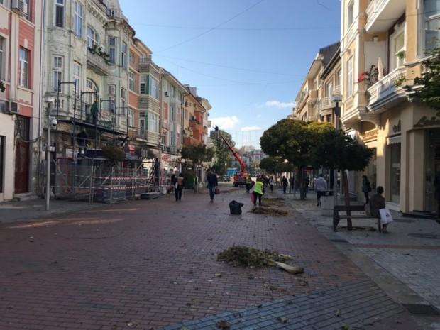 Varna24.bg Усилен труд кипи по бул.