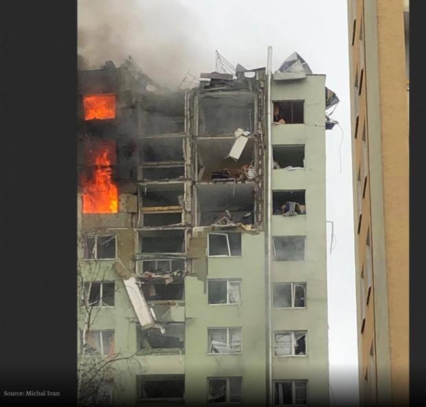 Експлозия на газ в 13-етажен блок в словашкия град Прешоввзежертви,