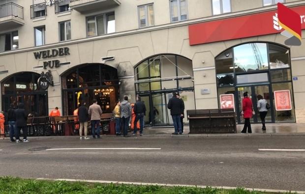 БГНЕСЧаст от сградата на българското посолство в черногорската столица Подгорица