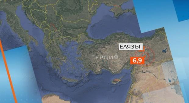 БНТСилно земетресение в Турция с магнитуд 6,9 по Рихтер в