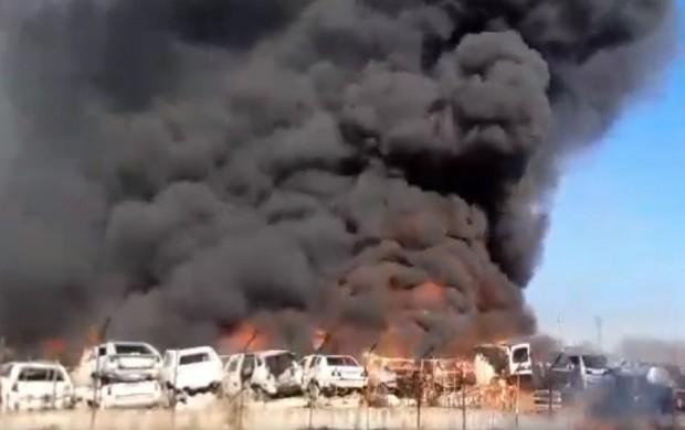 Хасковонет Десетки коли горят в пожар в автоморга в района