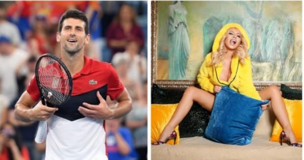 След като супер звездата в тениса Новак Джокович отпразнува победата