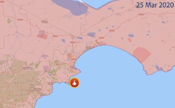 ТуитърПо предварителни данни самолетът Су-27 се е разбил в Черно