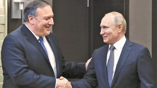 > Майк Помпео и Владимир ПутинВ съвместно изявление по повод