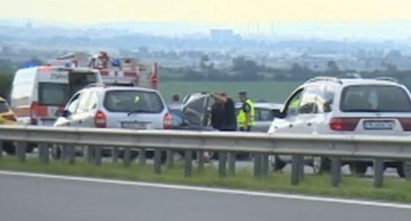 бТВВерижна катастрофа на автомагистрала