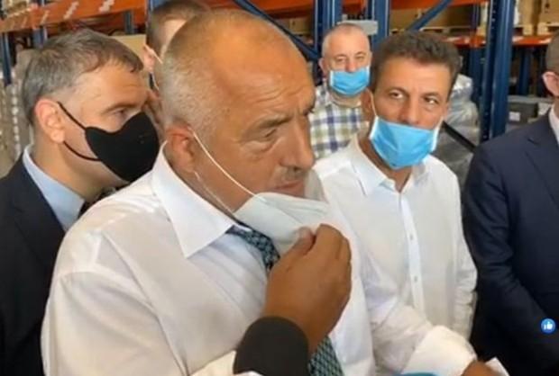 Бойко Борисов пристигна в Пазарджик, където ще открие логистичен център.
