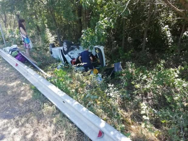 Зрелищно ПТП е станало около 11 часа на пътя Бургас