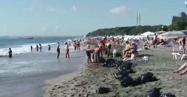 Топчета от палмово масло излязоха и на Северния плаж в