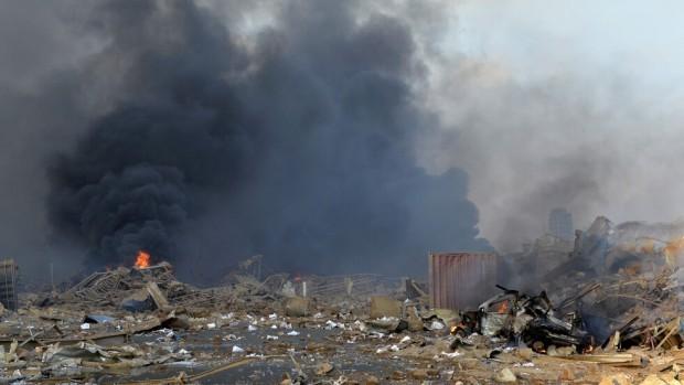 Щетите, причинени от унищожителната експлозия на пристанището в Бейрут, са